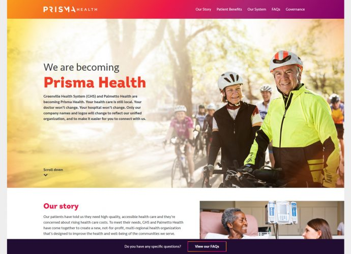 We are becoming Prisma Health
